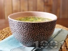 Рецепта Рибена супа (чорба) със сьомга, скариди, картофи, сметана и пресен зелен лук
